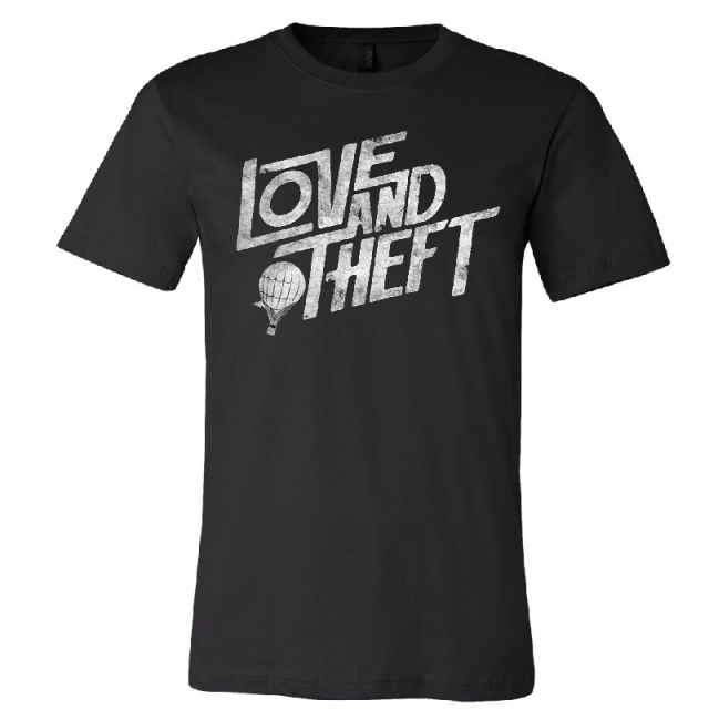 Love and Theft Unisex Black Logo Tee
