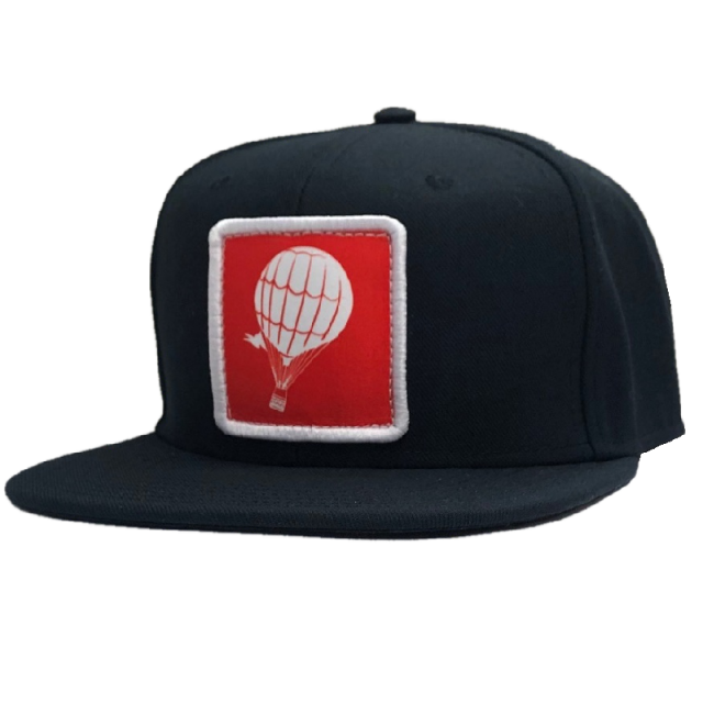 Love and Theft Black Patch Flatbill Ballcap