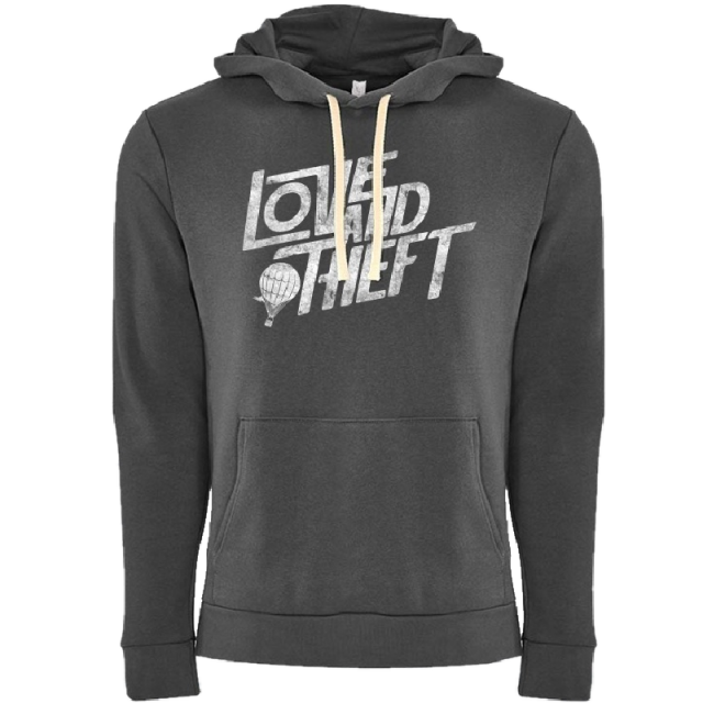 Love and Theft Unisex Heavy Metal Grey Hoodie