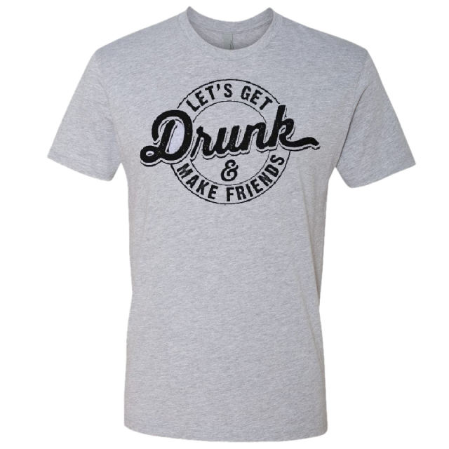 Love and Theft Heather Grey Drunk Tee