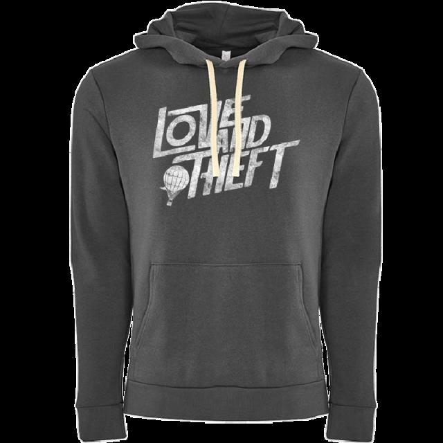Love and Theft Unisex Heavy Metal Grey Hoodie